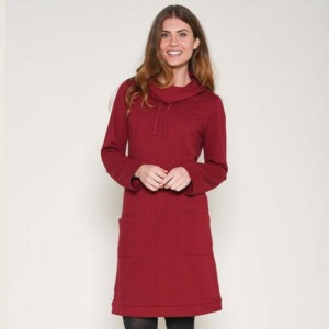 Brakeburn-Cowl Neck Dress